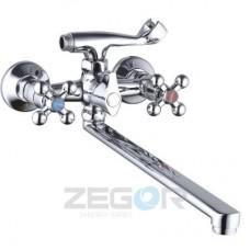 Змішувач для умивальника двохвентельний Zegor DAK7
