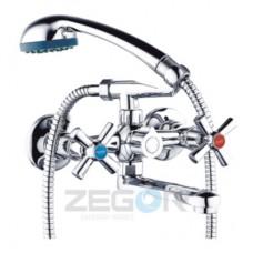 Змішувач для умивальника двохвентельний Zegor DMT3