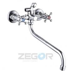 Змішувач для умивальника двохвентельний Zegor DMX7